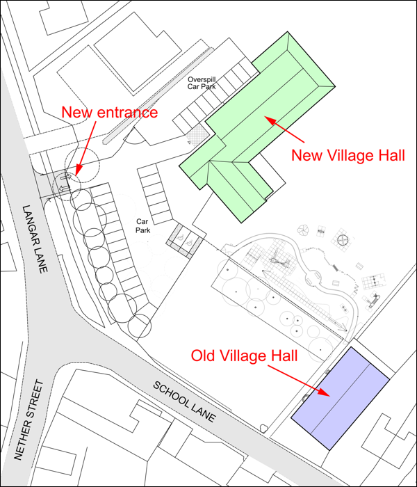 Proposed location of new village hall in Harby, Leicestershire